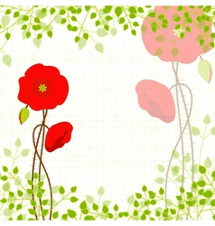Springtime red poppy vector