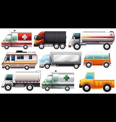 Big vehicles vector
