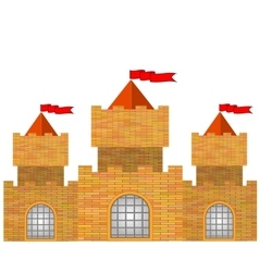 Red brick castle vector