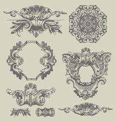 Decorative vintage engravings vector