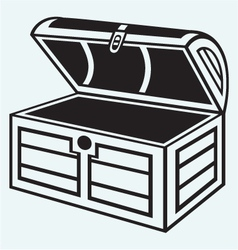 Vintage wooden chest vector