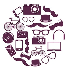 Hipster design vector