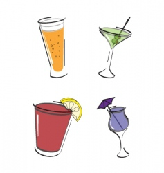 Have a drink icon set vector