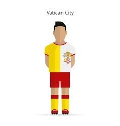 Vatican city football player soccer uniform vector