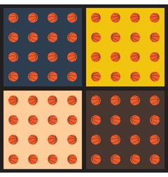 Seamless patterns with basketball balls vector
