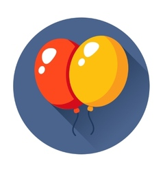 Celebration balloons icon vector