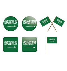 Badges with flag of saudi arabia vector
