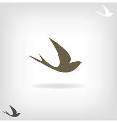 Stylized silhouette swallow vector