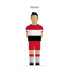 Yemen football player soccer uniform vector