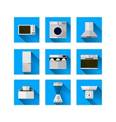 Icons for home equipment vector