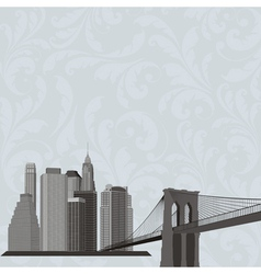 City building silhouette vector