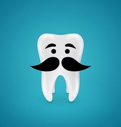 Mustachioed wisdom tooth vector