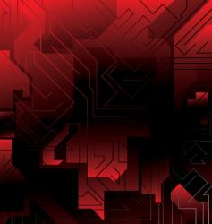 Electric red maze vector