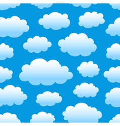 Cloudy sky pattern vector