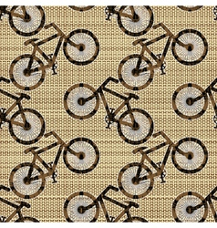 Bicycle pattern vector