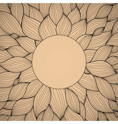 Radial hand-drawn pattern waves background vector