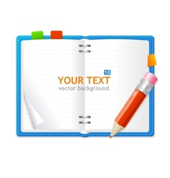 Open personal organizer book vector
