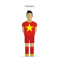 Vietnam football player soccer uniform vector