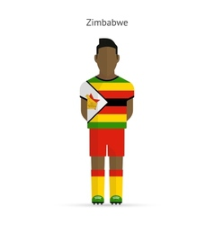 Zimbabwe football player soccer uniform vector