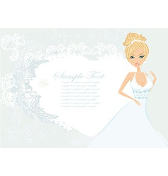 Beautiful bride card vector
