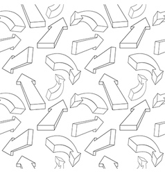 Seamless pattern from arrows vector