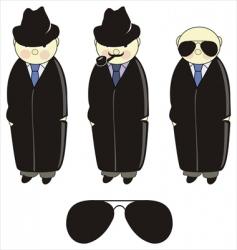 Inspector detective vector
