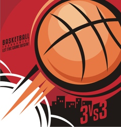 Basketball poster design vector