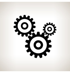 Silhouette gears on a light background vector