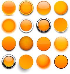 Round orange icons vector