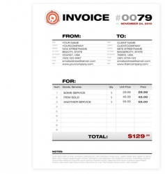 Invoice template vector