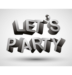 Lets party phrase vector