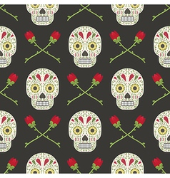 Day of the dead pattern vector