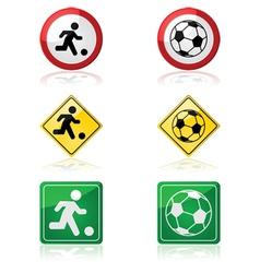 Soccer signs vector