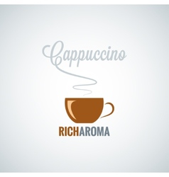 Cappuccino cup design background vector