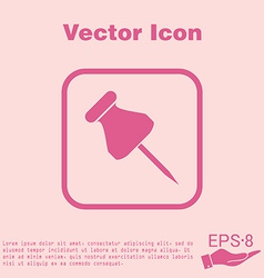Pin for papers symbol icon office supplies vector