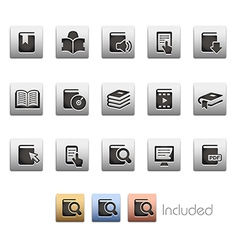 Books icons vector