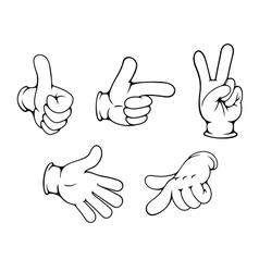 Set of positive hands gestures vector