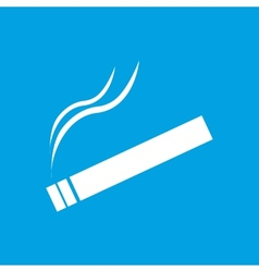 Cigarette white icon vector