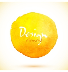 Yellow watercolor circle design element vector