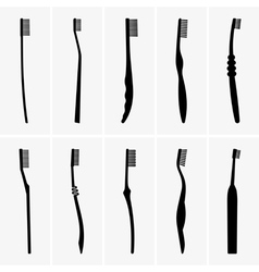 Toothbrushes vector