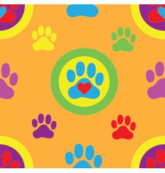 Pawprint seamless pattern vector