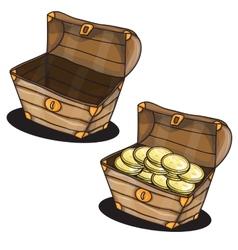 Cartoon chest vector