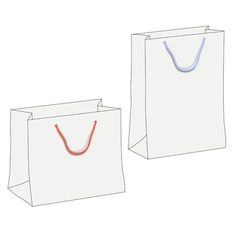 Drawing of two white shopping paper bags vector