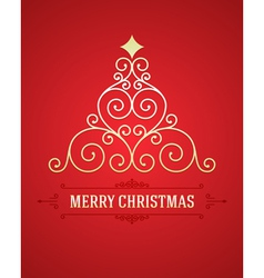 Christmas tree from flourishes calligraphic backgr vector