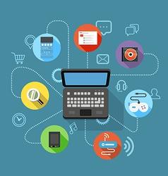 Different modern digital device scheme vector