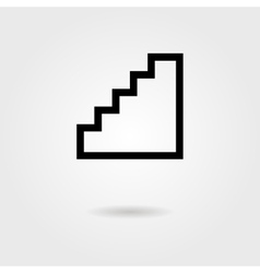 Black stairway icon with shadow vector