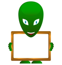 Alien with frame vector