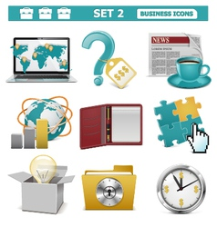 Business icons set 2 vector