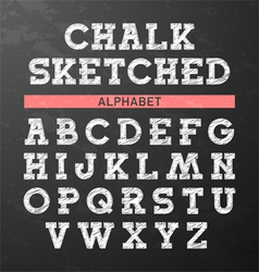 Chalk sketched font vector
