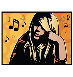 Music girl vector